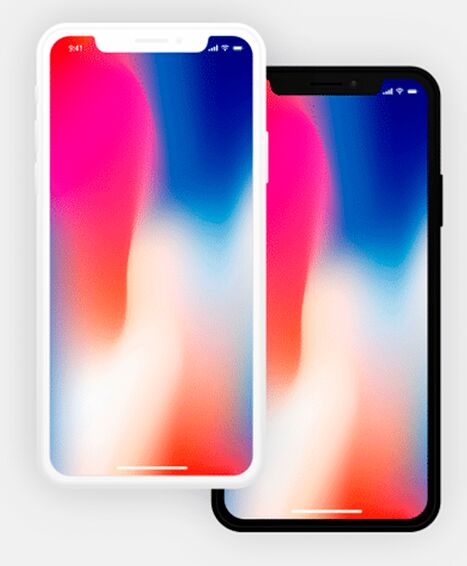 Dark & Light iPhone X Mockups