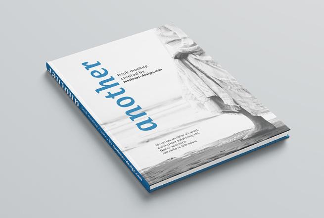 Free A4 hardcover book mockup-min
