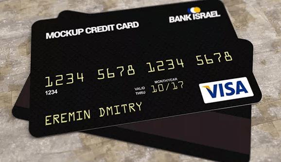Free Credit Bank Card Mockup PSD-min