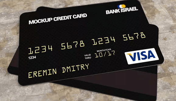 Free Credit Bank Card Mockup PSD-min