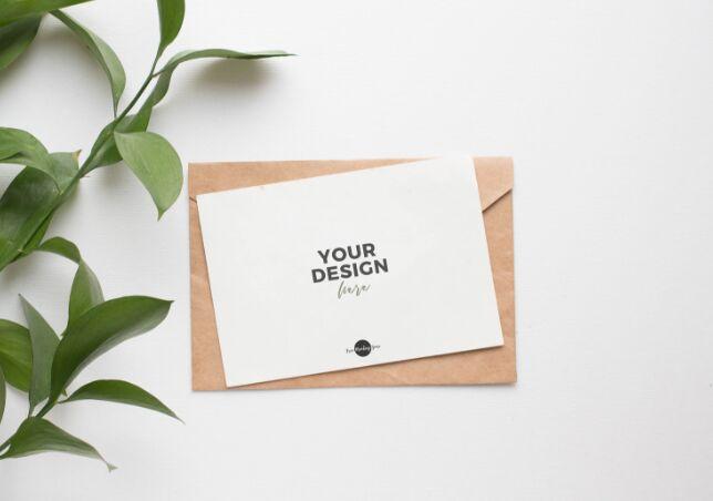 Free Elegant PSD Invitation Card Mockup-min
