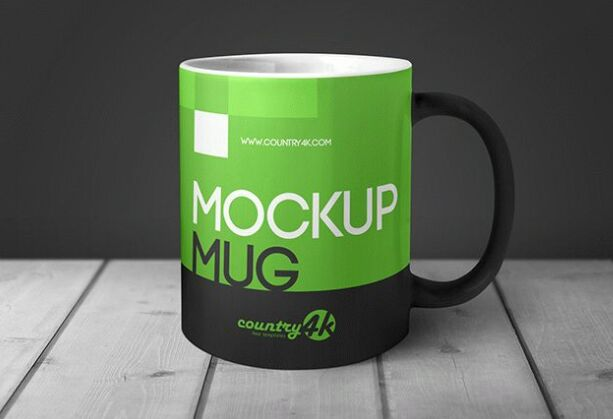 MockUp Mug in Table Free PSD-min