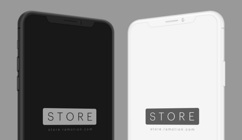 iPhone X & 8 Angled Mockups-min