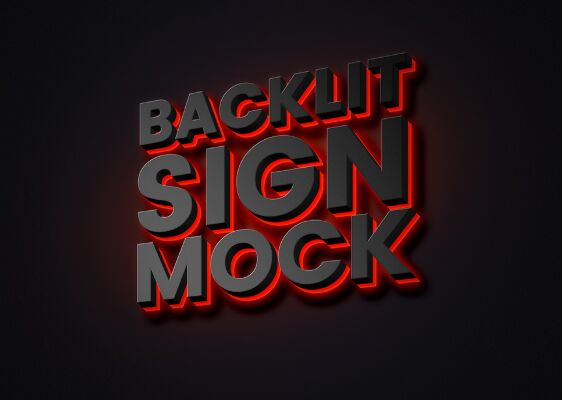 Backlit Sign Mockup-min