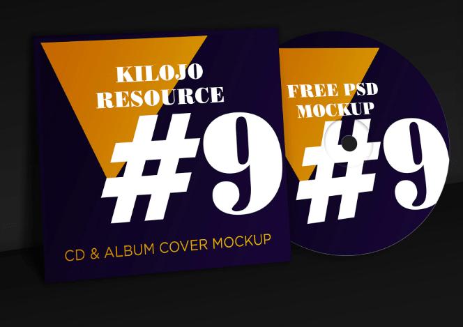 FREE PSD Mockup CD & Album Cover