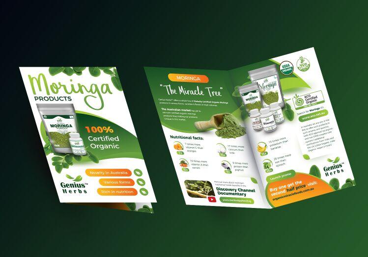 Free Half Fold Brochure Mockup PSD