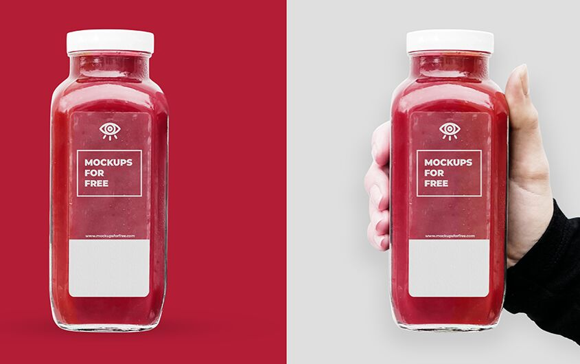 Glass Bottle in Hand-min