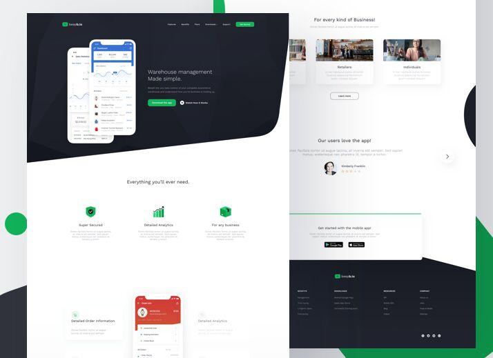 Mobile App Landing Page Freebie-min