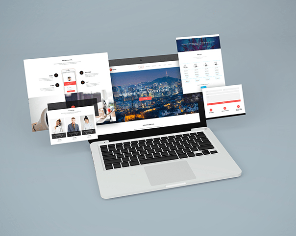 Notebook Website Mockup