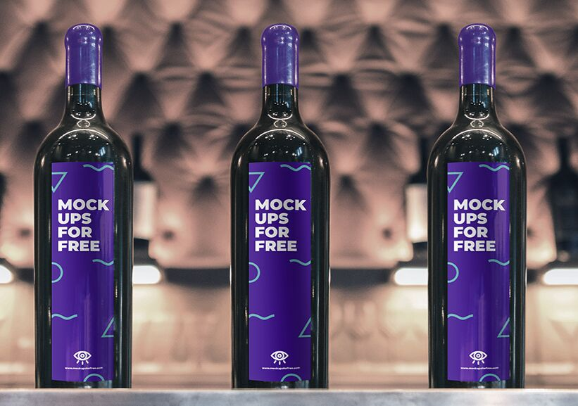 Wine Bottle Mockup-min