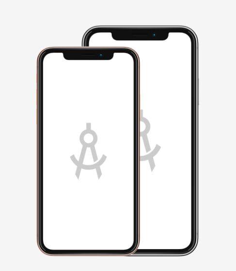 iPhone XS Flat Mockup