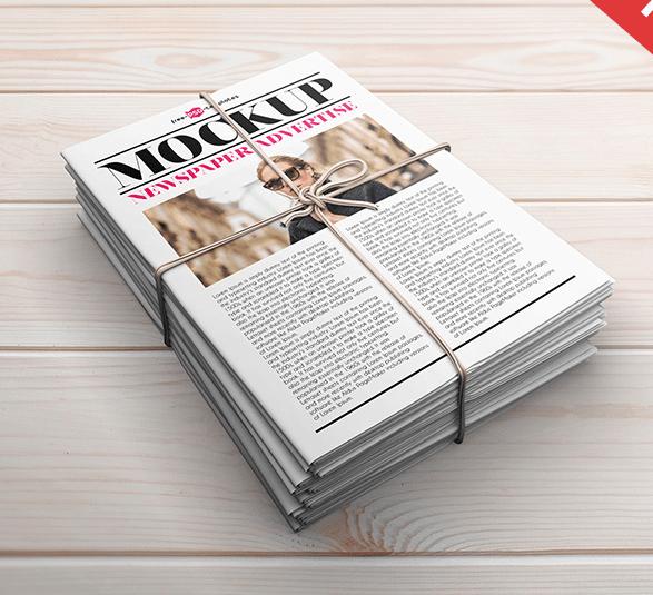 3 Free Newspaper Advertise PSD Mock-ups