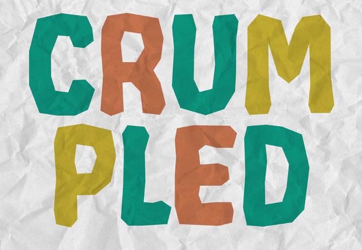 CRUMPLED - Free Font-min