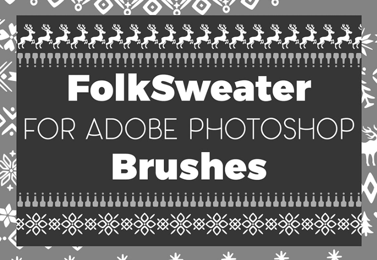 Folk Sweater brushes for Photoshop