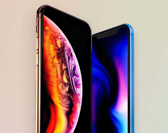 Free iPhone XS & XR mockup