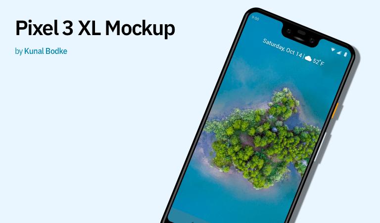 Pixel 3 XL Mockup Sketch (Freebie)