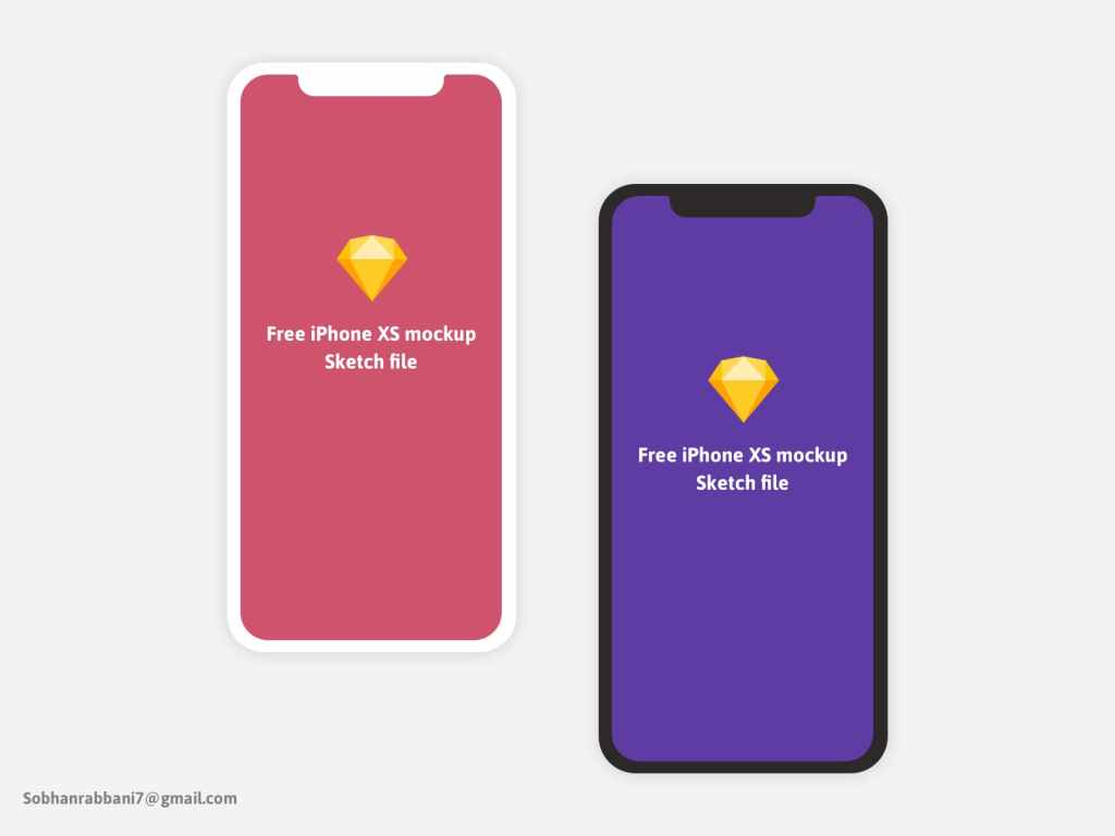 Free iPhone X XS Minimal Mockup Sketch File