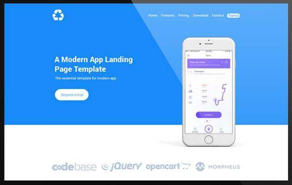 BEPZA - Modern App Landing Page PSD Template