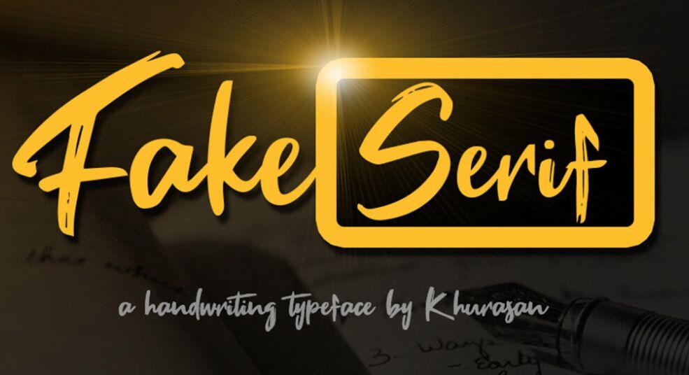 Fake Serif Font