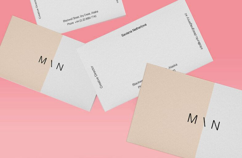Floating Business Cards Mockup-min
