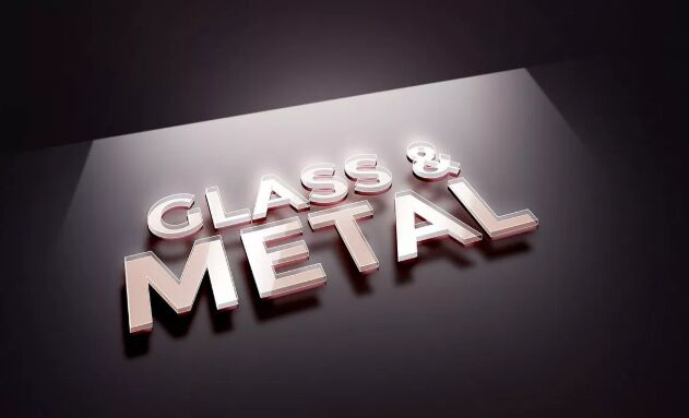 Glass Metal Text Effect
