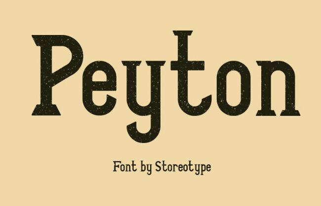 PEYTON Font