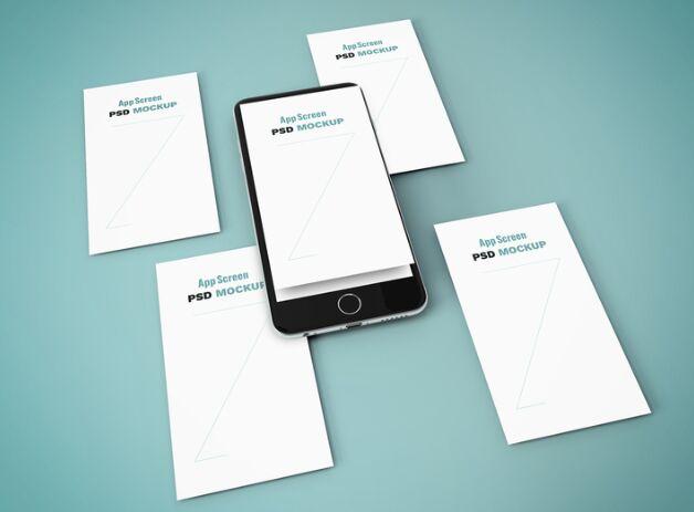 iPhone Screens Mockup
