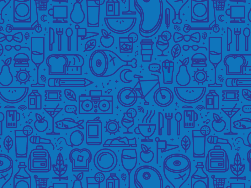 Food And Drink Icons Pattern