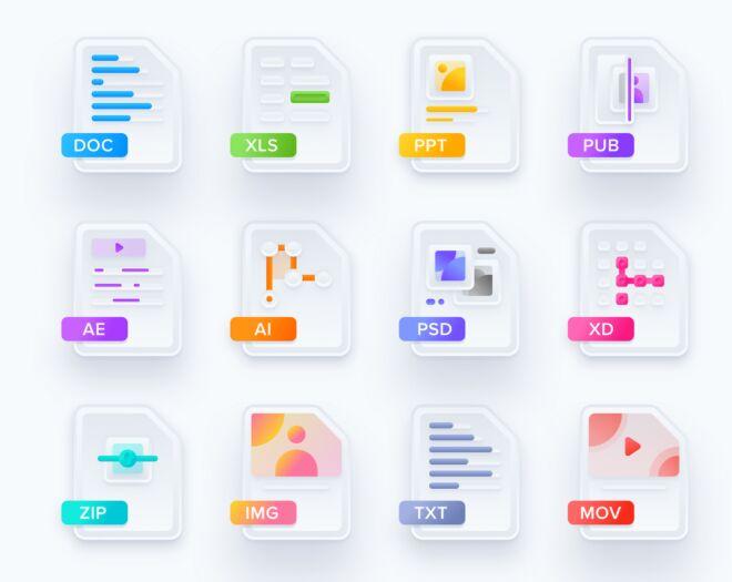 Free Modern Skeuomorphic Icons