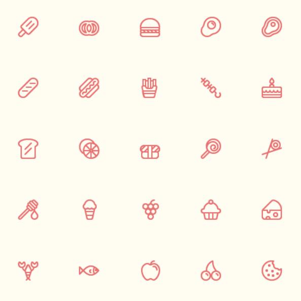 56 Food Icons