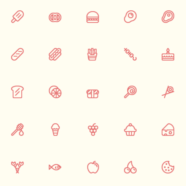 56 Food Icons