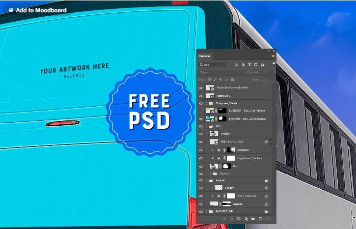 Busdoor Backbus PSD Mockup