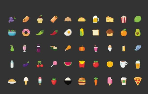 Food and beverages icons Free Vector
