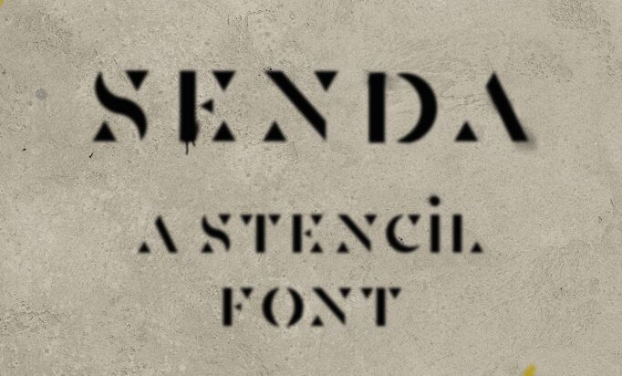 Senda Display Typeface