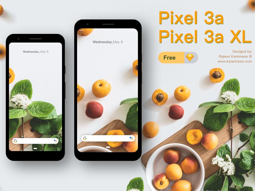 Free Google Pixel 3a & 3a xl Mockup