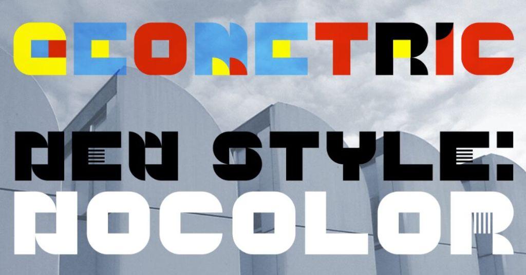 Geometric NoColor Font