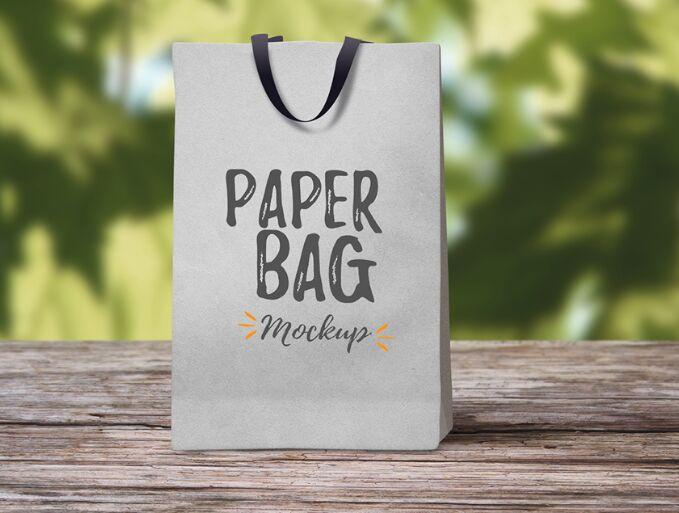 Paper Bag Mockup Freebie