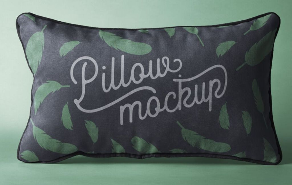 Rectangular Psd Pillow Mockup