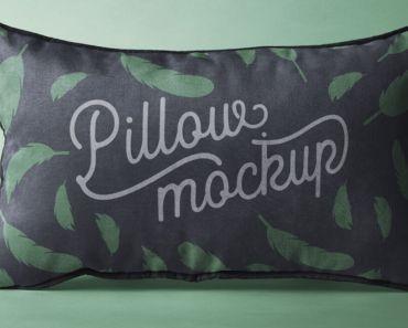 Rectangular Psd Pillow Mockup