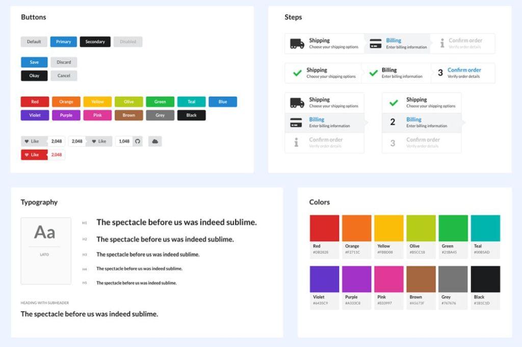 Semantic UI Kit for Adobe XD