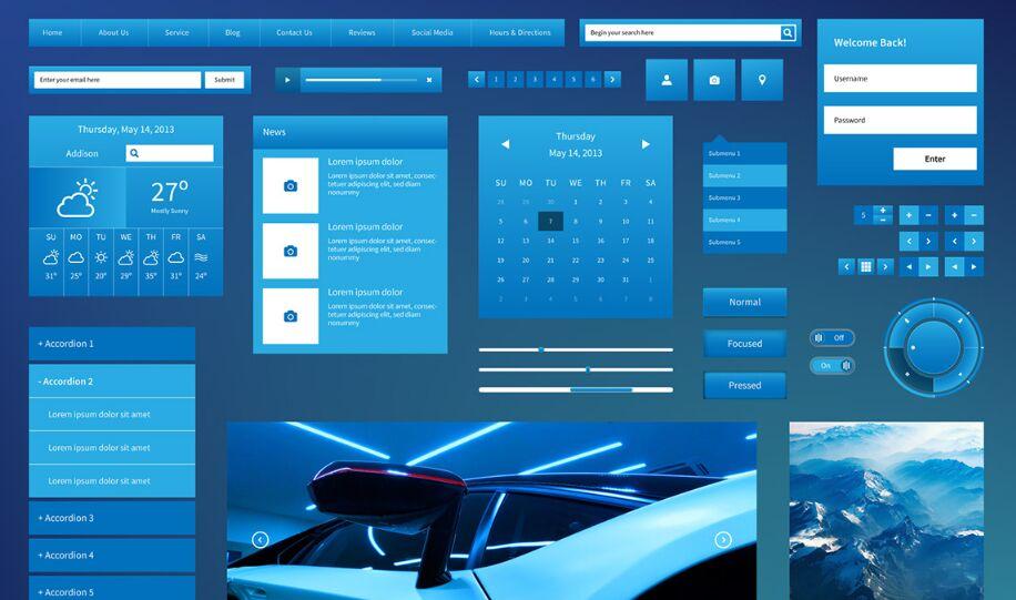 Visual Design Web UI Kit