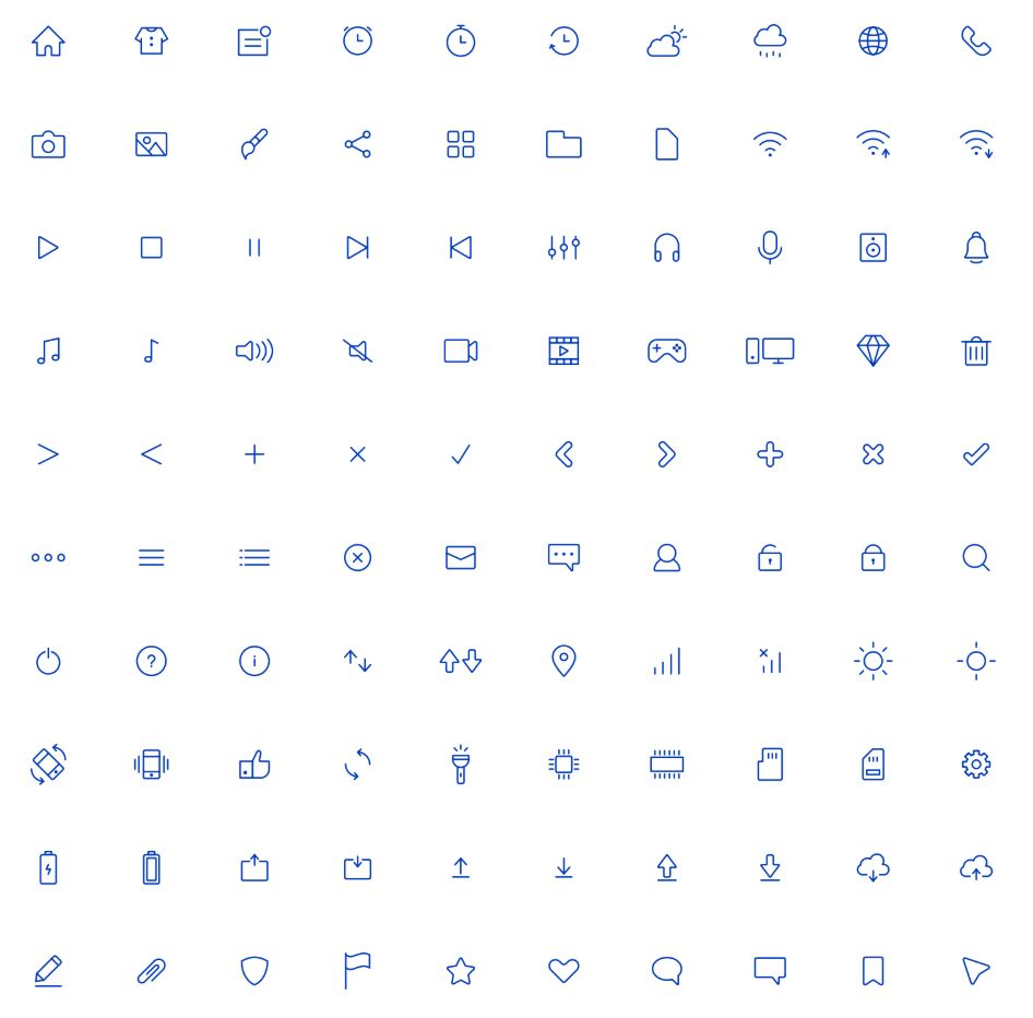 100 Editable Line Icons Pack For Adobe Illustrator