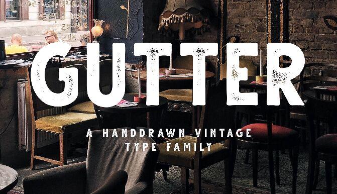 Gutter Vintage Free Font