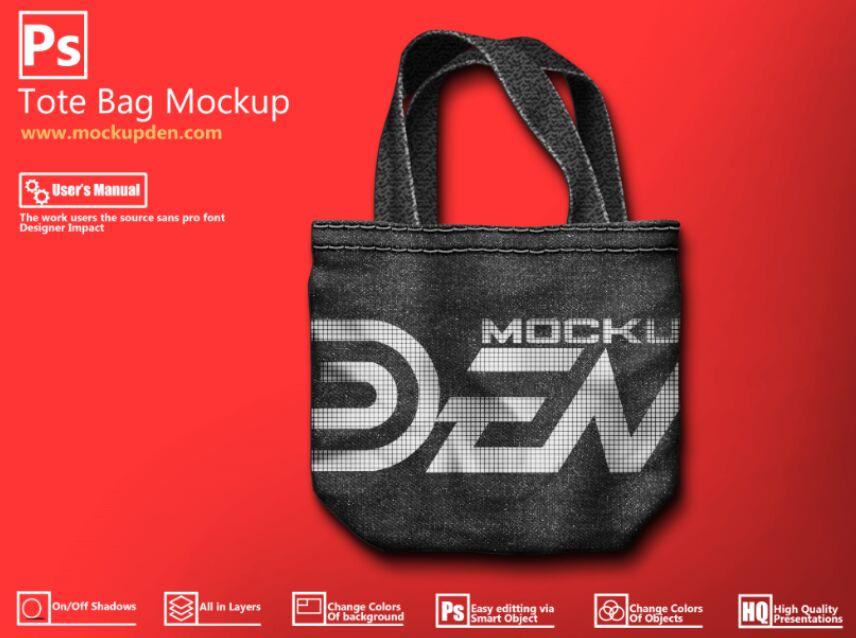 Abstract Print Tote bag Mockup