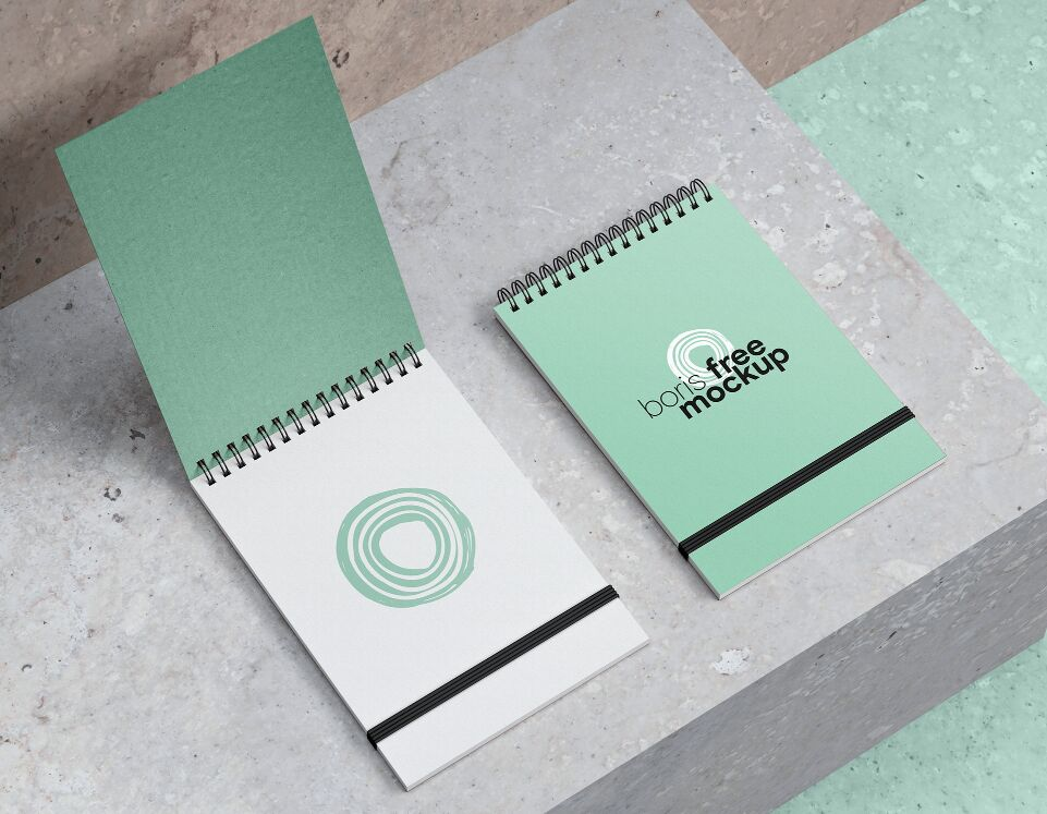 PSD Spiral Notebook Mockup Set