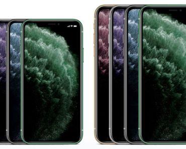 Apple iPhone 11, iPhone 11 Pro & iPhone Pro Max Mockup PSD & Ai