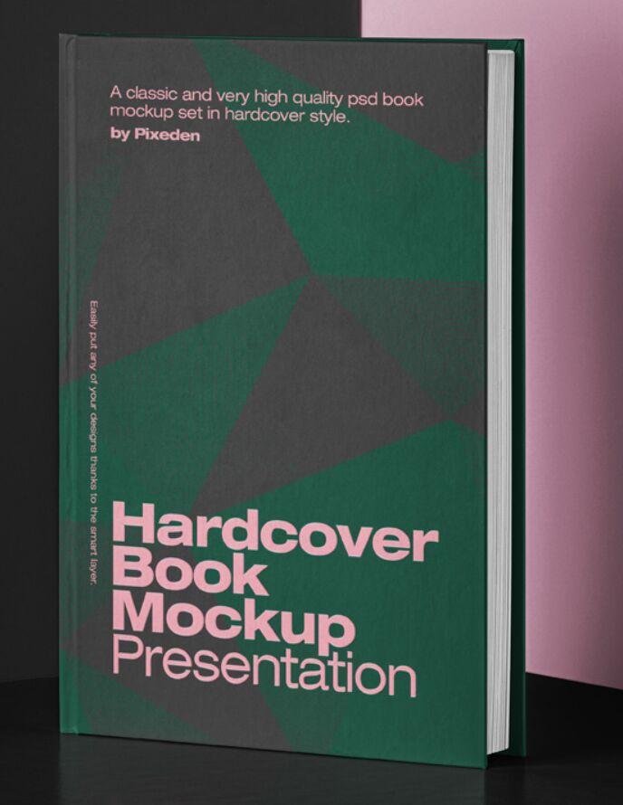 Psd Book Mockup Hardcover 2