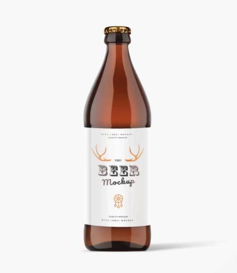 Beer Bottle PSD Mock-Up