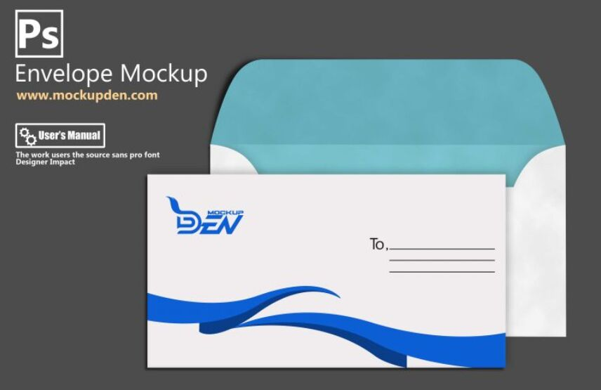 Customizable Envelope Mockup PSD Template