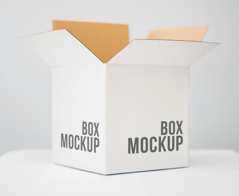Free Paper Packing Box Mockup